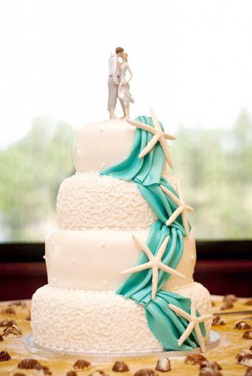 bánh cưới theme biển